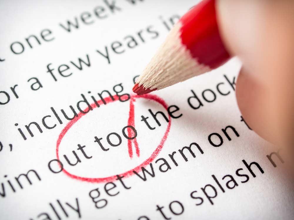 grammar and editing